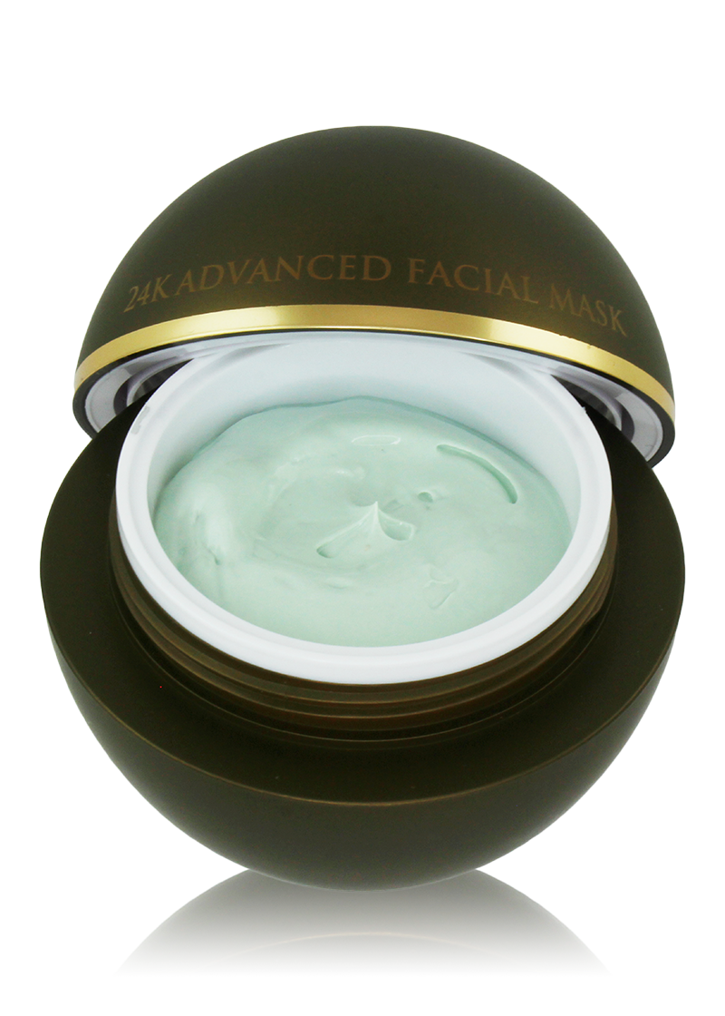 24K Advanced Facial Mask with removed lid